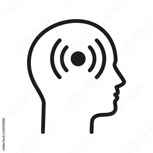 Ból głowy logo wektor - fototapety na wymiar
