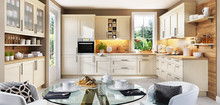 Beautiful Bright Kitchen With A Window In A Modern Home