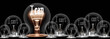 Leinwandbild Motiv Light Bulbs Concept