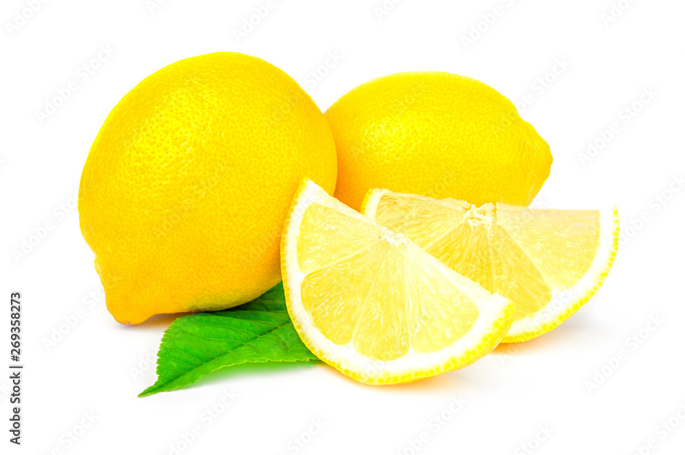 Fototapety, obrazy: Lemon isolated on a white background with clipping path
