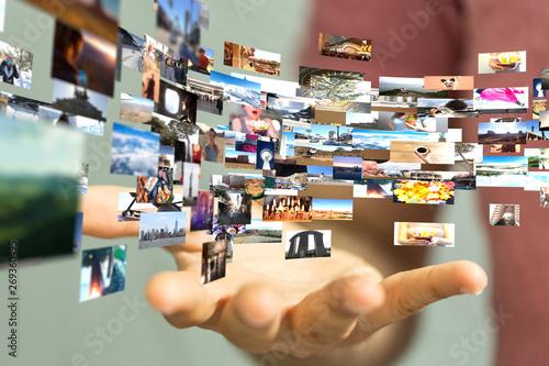 Internet broadband and multimedia streaming entertainment Canvas Print