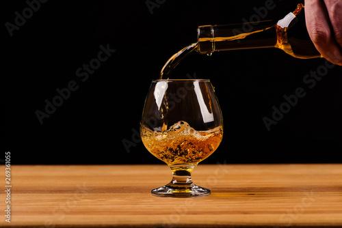 Fotografía  glass with cognac
