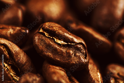 Wall Murals Cafe roasted coffee beans background