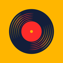 Vinyl Record Music Vector With...