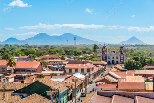 View from the Roof of Basilica of Assumption of the Blessed Virgin Mary in Leon - Nicaragua