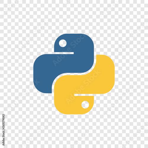 Fotografía  Vector illustration of an icon of the Python programming language