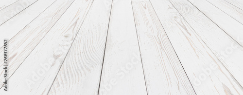 Grunge wood white painted background Canvas Print