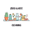 Zero Waste cleaning shelf with sustainable items
