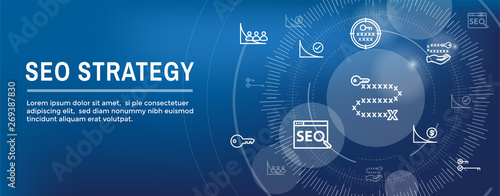 Photo  SEO Strategy - Search engine optimization concept - keywords, etc
