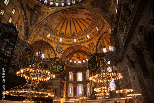 Printed kitchen splashbacks Theater Hagia sofia church and mosque in istanbul Turkey