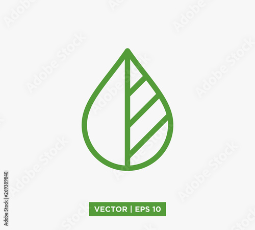 Leaf Icon Vector Illustration Wall mural