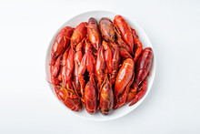 Delicious Boiled Crayfish On A...