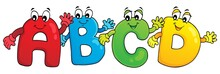 Cartoon ABCD Letters Theme 3
