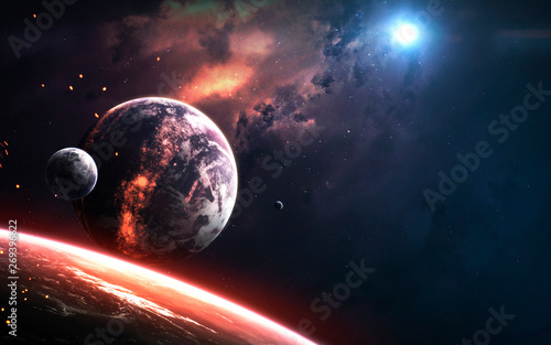 Fotografie, Tablou  Realistic planet render, deep space visualisation