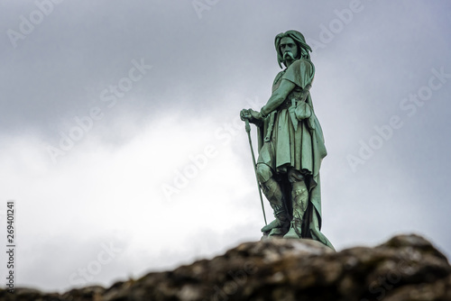 Fotografie, Obraz Vercingetorix, the statue of a famous Gaul warrior in Alesia who defied the Roma
