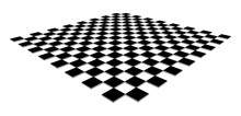 Checkerboard, Chessboard, Checkered Plane In Angle Perspective. Tilted, Vanishing Empty Floor. 3d Black Squares Isolated On White Background.