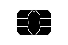 EMV Chip Icon For Bank Plastic...