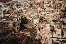 Blick Auf Altstadt Von Matera ...