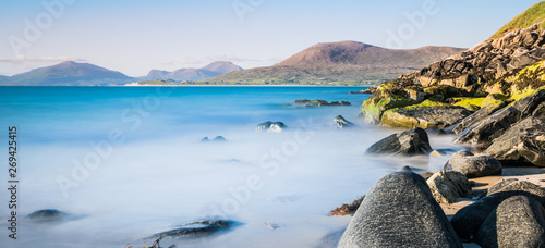 Fotografía Isle of Harris landscape - beautiful endless sandy beach and turquoise ocean