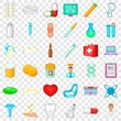 Hospital icons set. Cartoon style of 36 hospital vector icons for web for any design