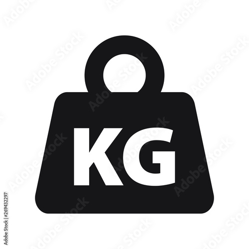 Weight kilogram icon vector isolated Fototapet