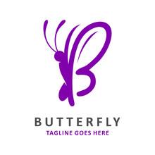 Initial Logo B Butterfly