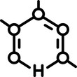 chemical compound science icon