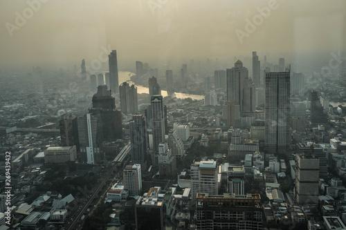 Fototapety, obrazy: Chao Phraya River in Bangkok , Top view Bangkok