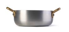 Stainless Pan On White