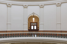 Clean Shot Of The Inside Of The Texas State Capitol Building In Downtown Austin, Texas