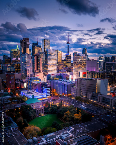 Fototapeta Epic City Skyline of Toronto Canada