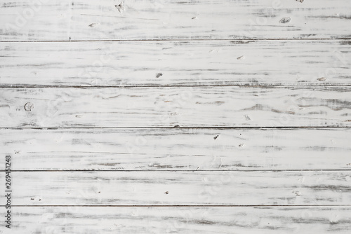 Vintage retro rustic white wood background backdrop with old pattern and texture Slika na platnu