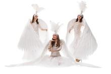Beautiful Models In Costumes O...