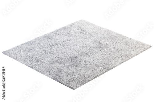 Fotografia Modern light gray rug with high pile. 3d render
