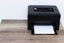 Laser Printer Isolated On Whit...