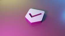 3d Symbol Of Been Here Marker Icon Render