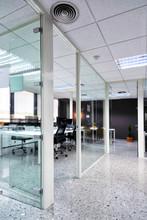 Workspace In Empty Office