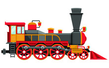 Vintage Locomotive Vector Desi...
