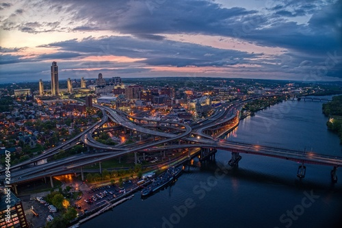 Aerial View of the City Albany, Capitol of the State of New York Fototapet
