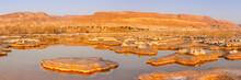 Dead Sea Panorama Israel Salt Islands Sunrise Morning Landscape Nature