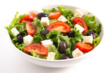Greek Salad With Olives Tomato...