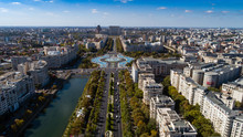 Aerial Footage Of Bucharest Do...