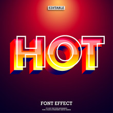 Modern And Futuristic Red Font With Hot Flame Color Style