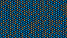 Maze Pattern Abstract Background With Vibrant Labyrinth For Poster Or Wallpaper