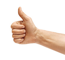 Man's Hand Showing Thumb Up - ...