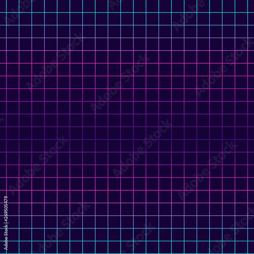 Geometric Net Seamless Pattern Vaporwave Retrowave