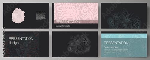 Fotografie, Obraz  The minimalistic abstract vector illustration of the editable layout of the presentation slides design business templates