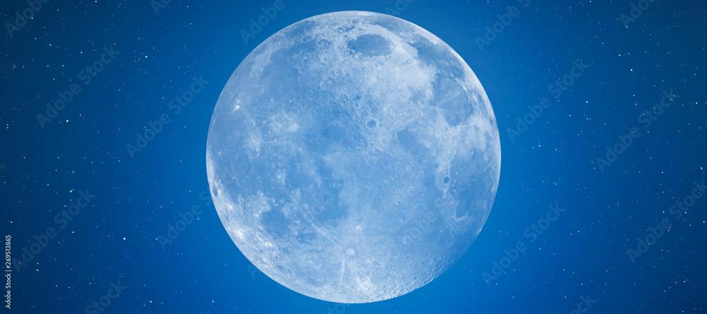 Fototapety, obrazy: Full Blue Moon