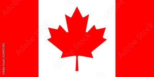 Fotografia Canadian flag. mapple leaf