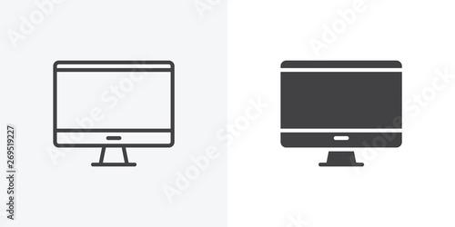 Fotografie, Obraz  Desktop computer, monitor icon
